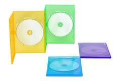 Kasten mit vier CDS Mehrfarben Lizenzfreies Stockfoto