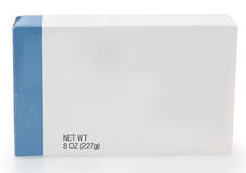 Kasten Nahrung mit unbelegtem Kennsatz lizenzfreie stockfotos