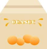 Kasten Orangen Lizenzfreie Stockfotografie