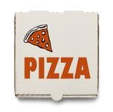 Kasten Pizza stockbilder