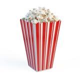 Kasten Popcorn Stockfoto