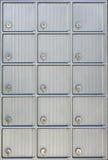Kasten of postbus of postdozen post Stock Foto's