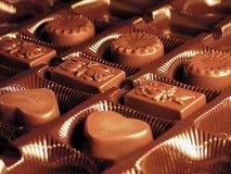 Kasten Schokolade lizenzfreie stockfotos