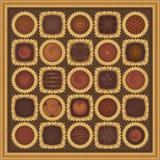 Kasten Schokoladen Stockbilder