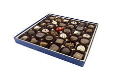 Kasten Schokoladen Lizenzfreies Stockfoto