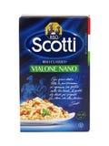 Kasten Scotti-Vialone klassischer Nano-Reis Riso lizenzfreie stockbilder