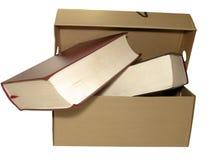 Kasten und Bücher Lizenzfreie Stockbilder