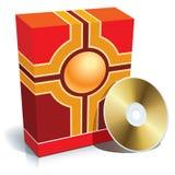 Kasten und CD vektor abbildung