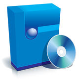 Kasten und CD Vektor Stockfotografie
