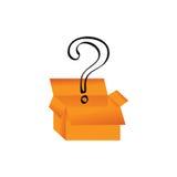Kasten und Fragezeichen Vektor Abbildung