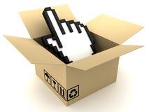Kasten und Hand Lizenzfreie Stockfotos