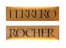 Kasten von Draufsicht Schokoladen Ferrero Rocher Lizenzfreies Stockfoto