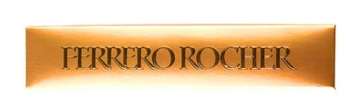 Kasten von Draufsicht Schokoladen Ferrero Rocher Stockfoto