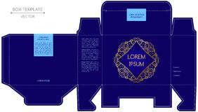 Kastendesign, Prägedruck Stockfoto