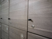 Kastenkabinetten in een kleedkamer Royalty-vrije Stock Fotografie
