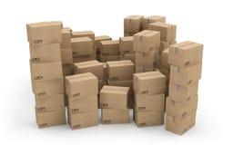 Kastenkarton-Pakettransport Lizenzfreie Abbildung