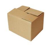 Kastenpaket cardbord Stockfotos