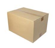 Kastenpaket cardbord Stockbilder
