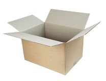 Kastenpaket cardbord Stockfoto