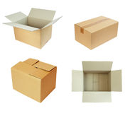 Kastenpaket cardbord Lizenzfreies Stockbild