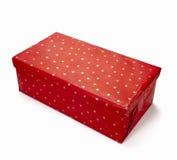 Kastenpaket-Geburtstagweihnachten des Rotes anwesendes Stockfoto