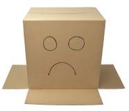 Kastenpaket-Verpackungsgesicht Stockfoto
