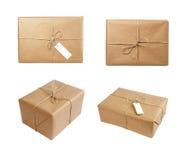 Kastenpaket-Verpackungsgruppe Stockbilder