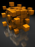 Kastenstruktur stock abbildung