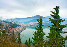 Kastoria becide the lake Stock Photography