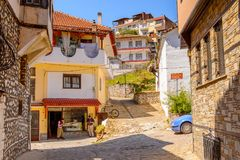 Architecture of Kastoria, West Macedonia, Greece. Royalty Free Stock Image