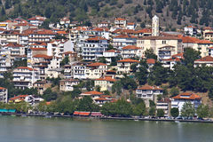 Kastoria resort by the lake at Greece royalty free stock photos
