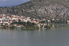 Kastoria traditional old city at Greece Royalty Free Stock Images