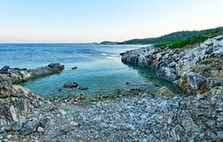 Kastos海岛海滩 免版税库存图片