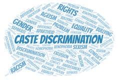 Kastowa dyskryminacja formułuje chmurę - typ dyskryminacja - royalty ilustracja