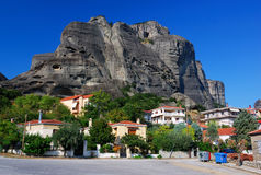 Kastraki city with Metora cliffs, Greece Royalty Free Stock Photos
