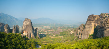 Kastraki village at the foot of Meteora, Greece Stock Photos