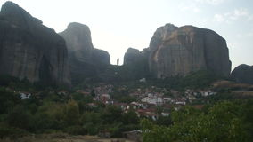 Kastraki village at the foot of Meteora, Greece stock video footage