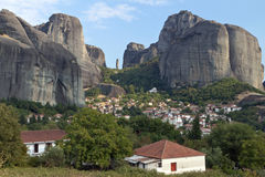 Kastraki village at Kalambaka in Greece Royalty Free Stock Photography