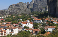 Kastraki village at Meteora in Greece Royalty Free Stock Photo