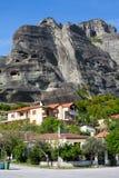 Kastraki village under the rocks of Meteora, Greece Royalty Free Stock Images