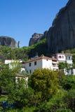 Kastraki village under the rocks of Meteora, Greece Stock Photos