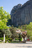 Kastraki village under the rocks of Meteora, Greece Royalty Free Stock Image