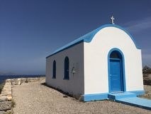 Kastri islet in Stefanos beach, Kos. Kastri islet in Kos, Greece stock photos
