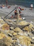 Kastro海滩,斯基亚索斯岛,希腊 免版税库存照片
