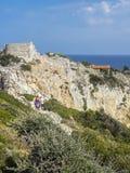 Kastro,斯基亚索斯岛,希腊 库存照片