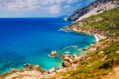 Kastro beach, Skiathos, Greece Royalty Free Stock Photos