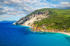 Kastro beach, Skiathos, Greece Royalty Free Stock Images