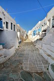 The Kastro of Chora, Folegandros island. Cyclades islands. Greece Royalty Free Stock Photo