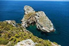 Kastro Skiathos clifs in Greke island. Royalty Free Stock Photo