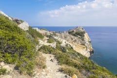Kastro, Skiathos, Greece royalty free stock photo